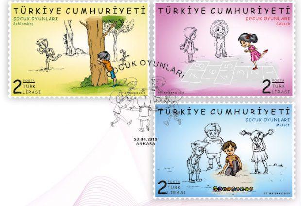 """PTT'den """"çocuk oyunları"""" pulları"""
